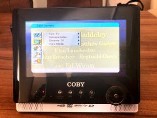DVD portátil con pantalla doble