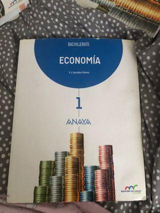 Libro economia 1 de bachillerato anaya