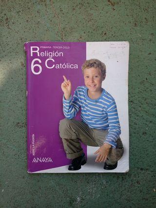 """Libro """" Religión Católica 6 Primaria"""" Anaya"""