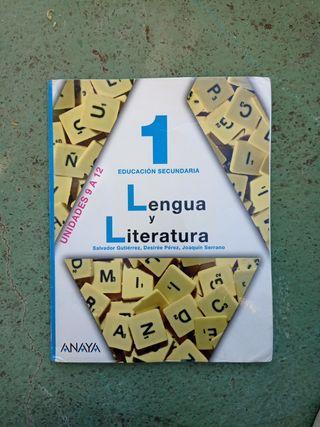 """Libro de texto """"Lengua y Literatura 1 E.S.O"""" Anaya"""