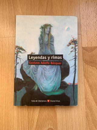 Libro Leyendas y Rimas de Gustavo Adolfo Becquer