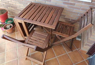 Conjunto mesa y 2 sillas de jardín IKEA ÄPPLARÖ