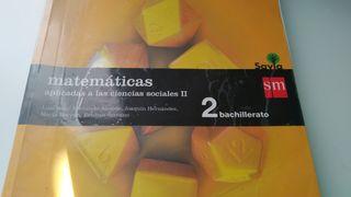 Libro SM Matemáticas 2 bachillerato