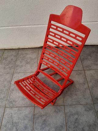 silla plegable jardín