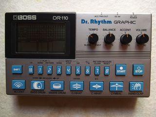 Caja de ritmos vintage retro BOSS DR-110