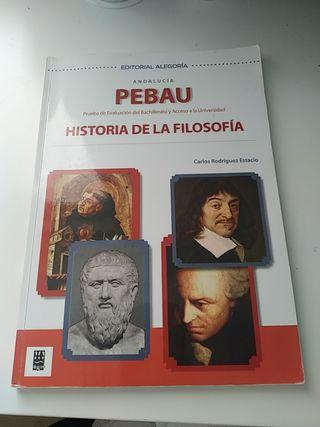 Libro Alegoría PEBAU historia de la filosofía