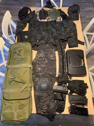 Equipo completo Airsoft, caza, camuflaje