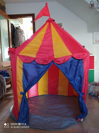 Carpa circo plegable.