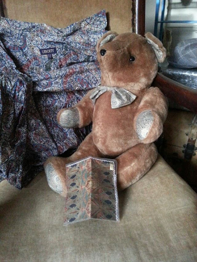 Liberty bear, shirt and silk square.