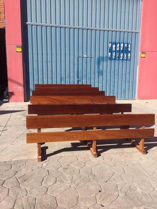 Bancos iglesia madera de roble porte gratis