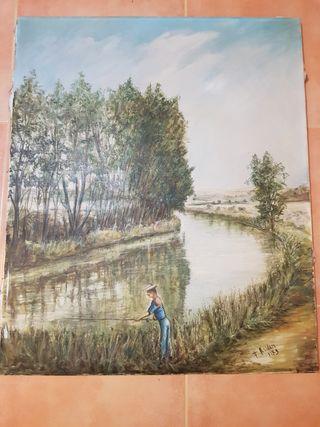 El pescador de Ríos pintura antigua