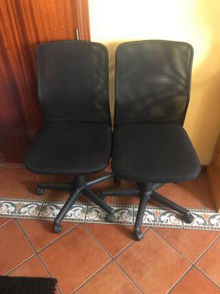 2 sillas de escritorio