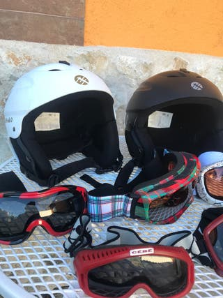 Cascos y gafas esquí snowboard
