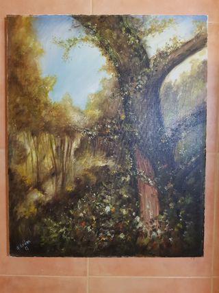 El árbol otoñal pintura antigua