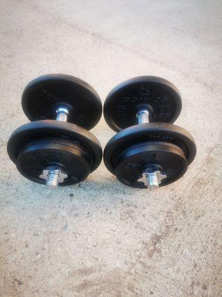 mancuernas 40 kg 28mm