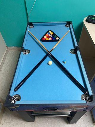 Mesa convertible 4 juegos con sus accesorios