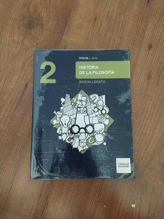 Libro historia de la filosofía 2° de bachillerato