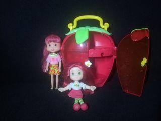 Lote muñecas tarta de fresa