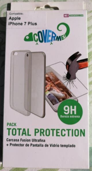 Funda+Protector IPhone 7 Plus NUEVA