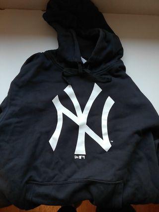 sudadera negra de los new york yankees