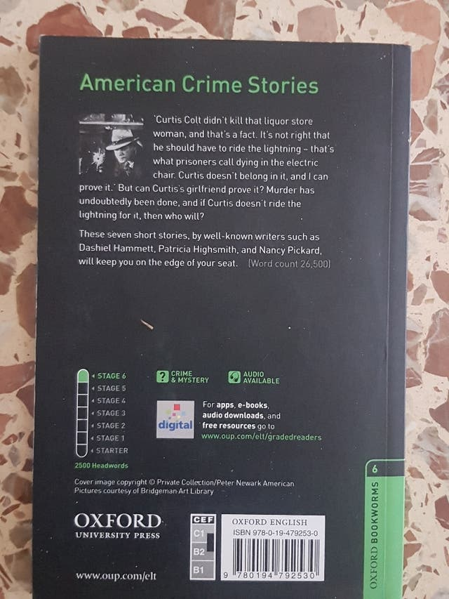 American Crime Stories, lectura, ingles, oxford B2