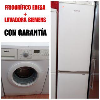 Frigorífico Edesa + Lavadora Siemens