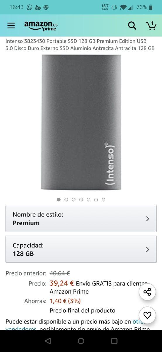 SSD Externo Intenso 128GB
