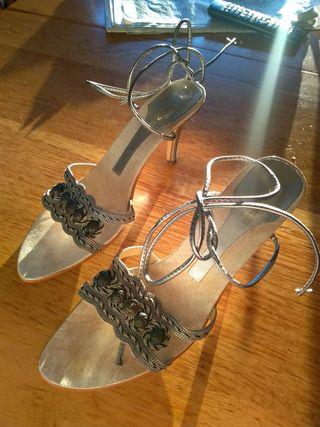 Sandalias de fiesta plateadas