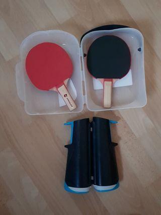 Set de ping pong Rollnet de Decathlon