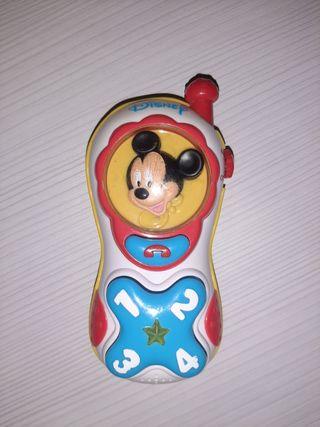 Teléfono clementoni Mickey Mouse luces y sonidos