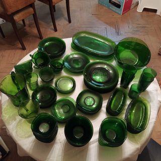 Vajilla verde Duralex