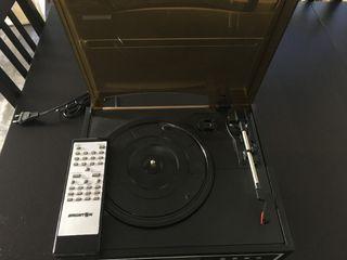 reproductor cd y vinilos y grabadora de vinilos