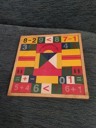 "Puzzle Madera""Aprende Matemáticas """