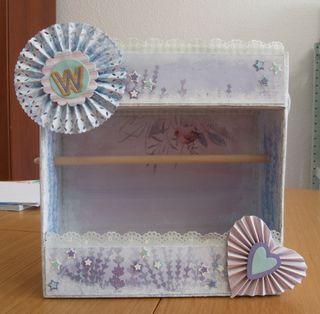 Caja decorada scrap