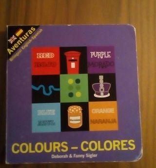 libro para niños ingles-español colores