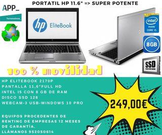 Portatil 11.6 pulgadas HP Elitebook
