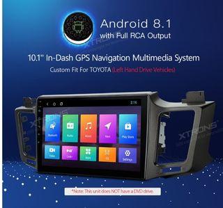 "pantalla android 10"" de toyota rav4"