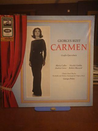 DISCO VINILO MARIA CALLAS CARMEN BIZET 1964