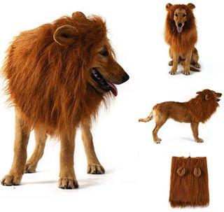Disfraz de Melena de León para perros y gatos