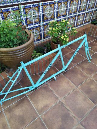 cuadro de bicicleta Tandem