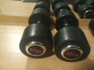 máncuernas 30 kg caucho