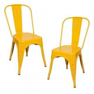 sillas Tolix amarilla