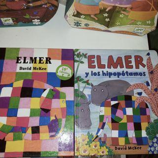 2 libros Elmer