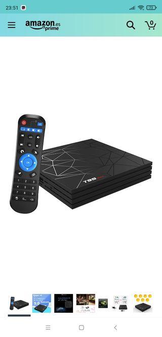 TV Box con cristal azul instalado