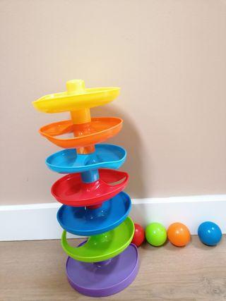 Tobogán de bolas de colores, 6 alturas. Está nuevo