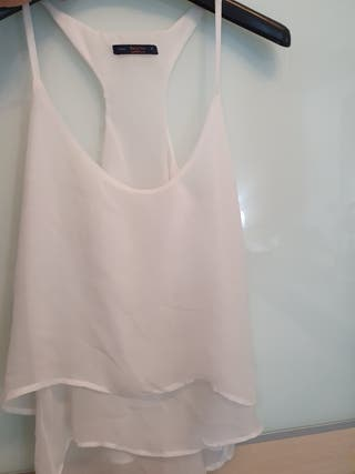 Top blanco Zara