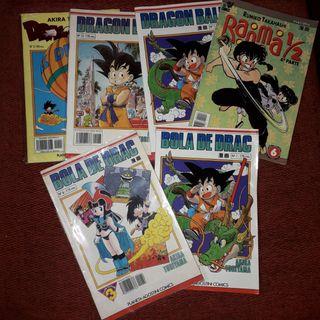 Pack cómics Dragon Ball y Ranma 1/2.