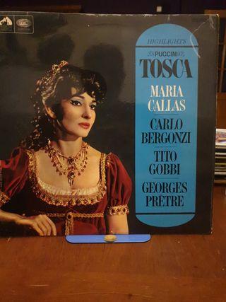 DISCO VINILO MARIA CALLAS TOSCA 1965