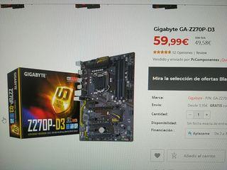 Placa base ATX Soporta Intel core i7, i5, i3