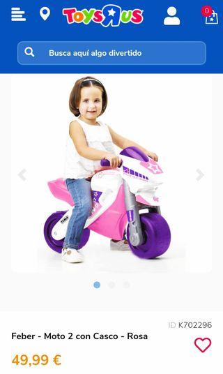Moto niña Racing Feber
